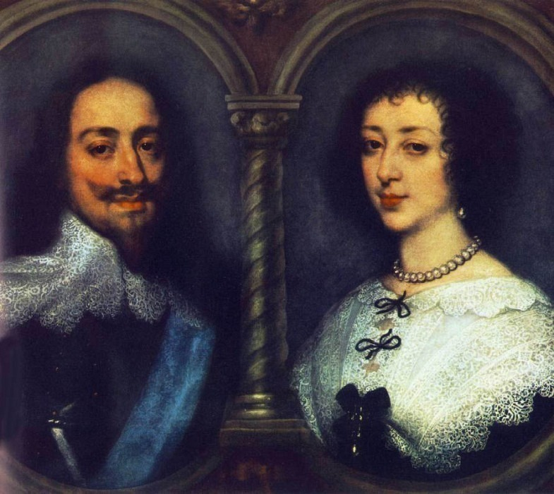 CharlesI of England and Henrietta of France. Anthony Van Dyck