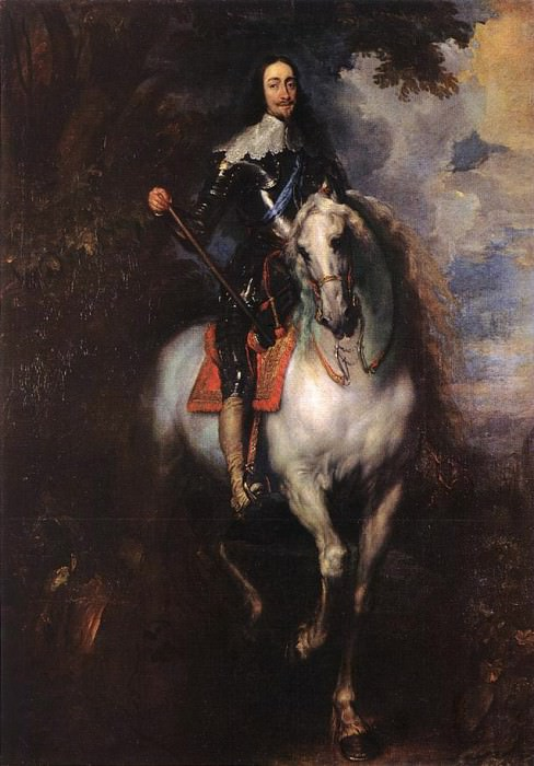 Equestrian Portrait of CharlesI King of England. Anthony Van Dyck