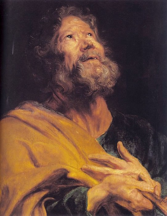 The Penitent Apostle Peter. Anthony Van Dyck