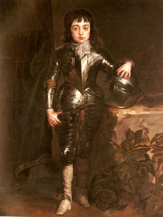 Portrait Of Charles II When Prince Of Wales. Anthony Van Dyck
