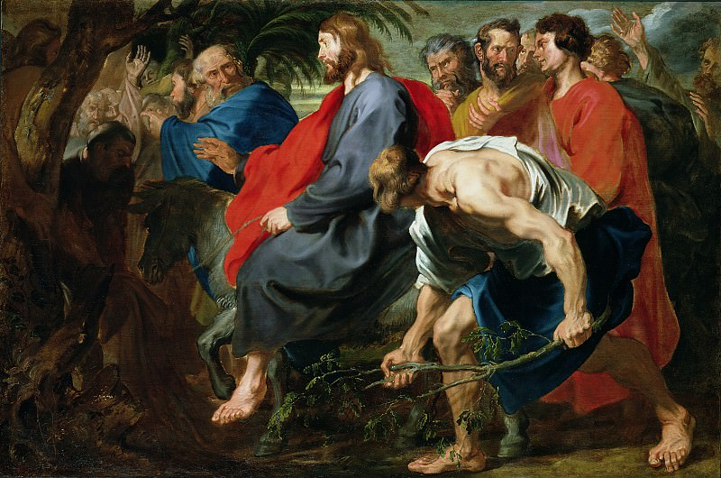 Entry of Christ into Jerusalem. Anthony Van Dyck