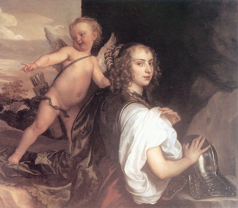 Portrait of a Girl as Erminia Accompanied by Cupid. Anthony Van Dyck