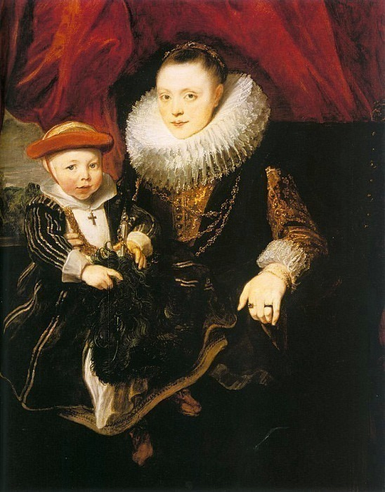 Young Woman with a Child. Anthony Van Dyck