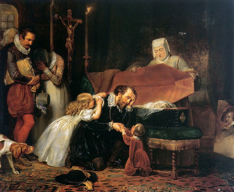 Rubens mourning his wife. Anthony Van Dyck