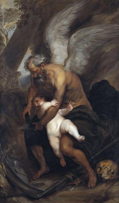 Time Clipping the Wings of Love. Anthony Van Dyck (After)