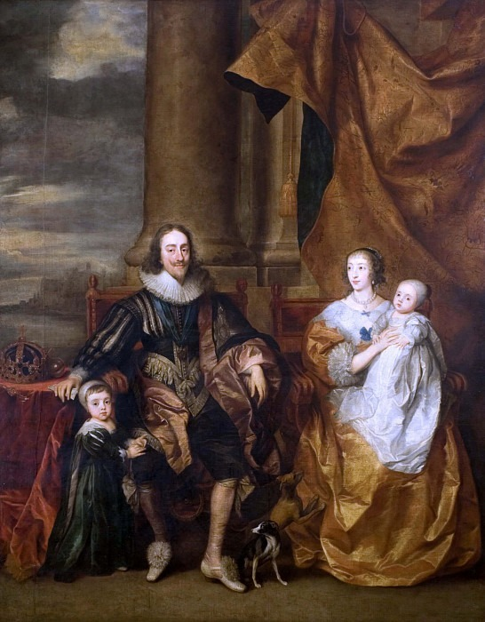 Portrait of Charles I and his Family. Anthony Van Dyck