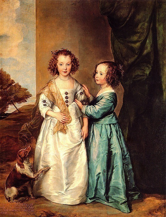 Sisters Philadelphia and Elizabeth Wharton. Anthony Van Dyck