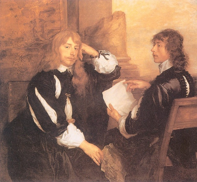 Portrait of Thomas Killigray and Lord William Crofts. Anthony Van Dyck