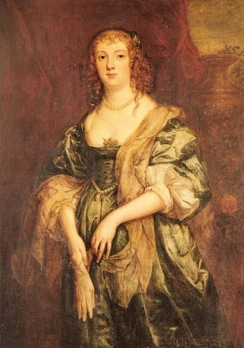 Portrait Of Anne Carr Countess Of Bedford. Anthony Van Dyck