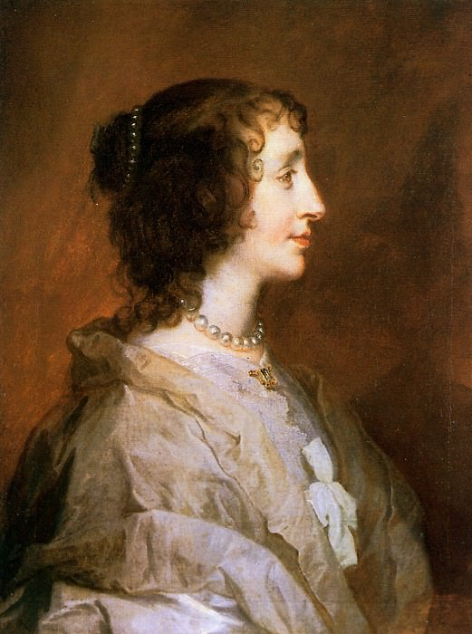 Queen Henrietta Maria. Anthony Van Dyck