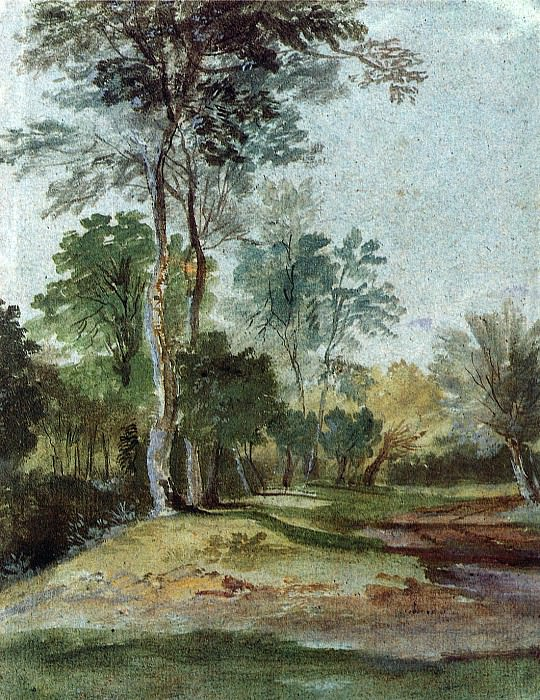 Avenue in the country. Anthony Van Dyck