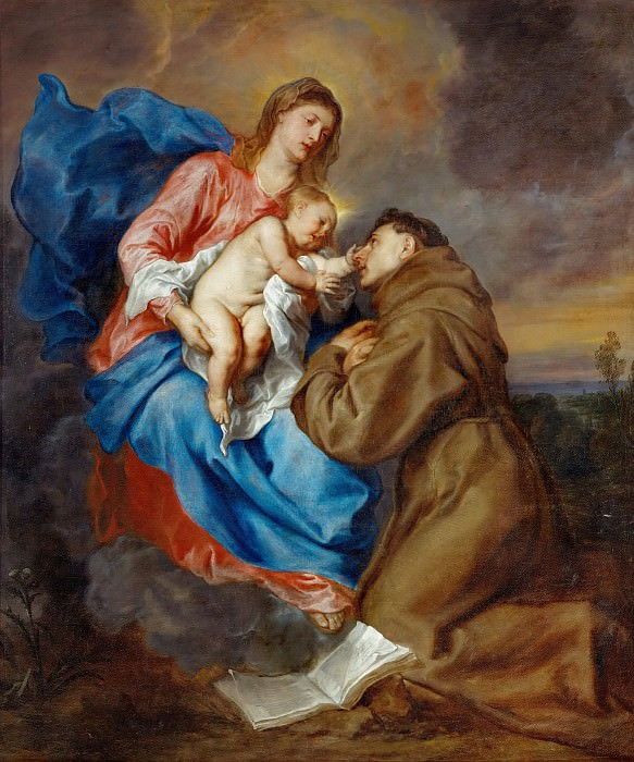 Vision of St. Antony of Padua. Anthony Van Dyck