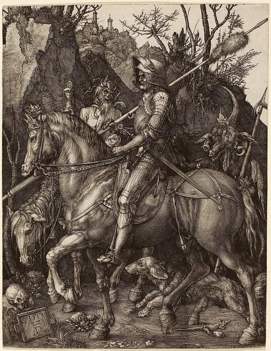 Рыцарь, смерть и дьявол. Гравюры Дюрера