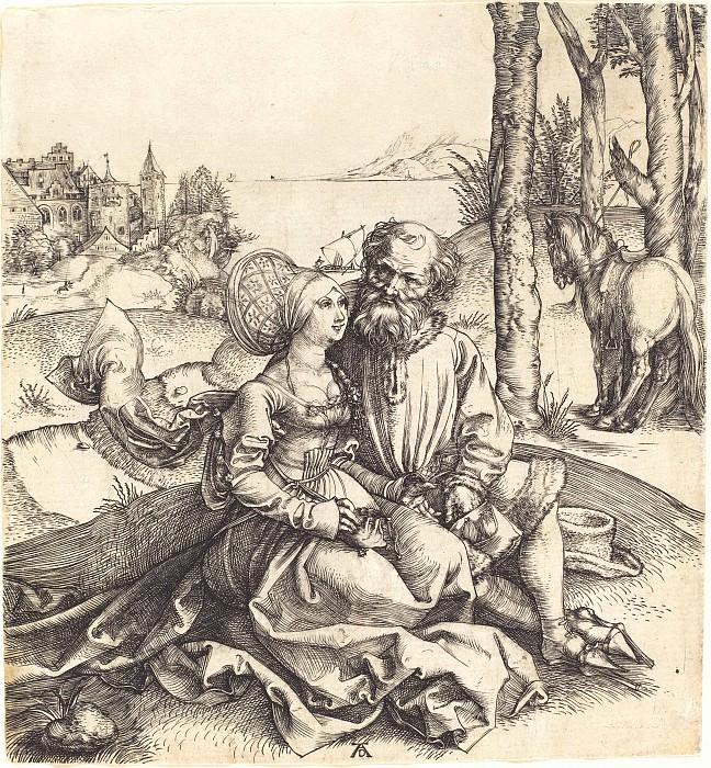 Unequal pair (Proposal of love). Durer Engravings
