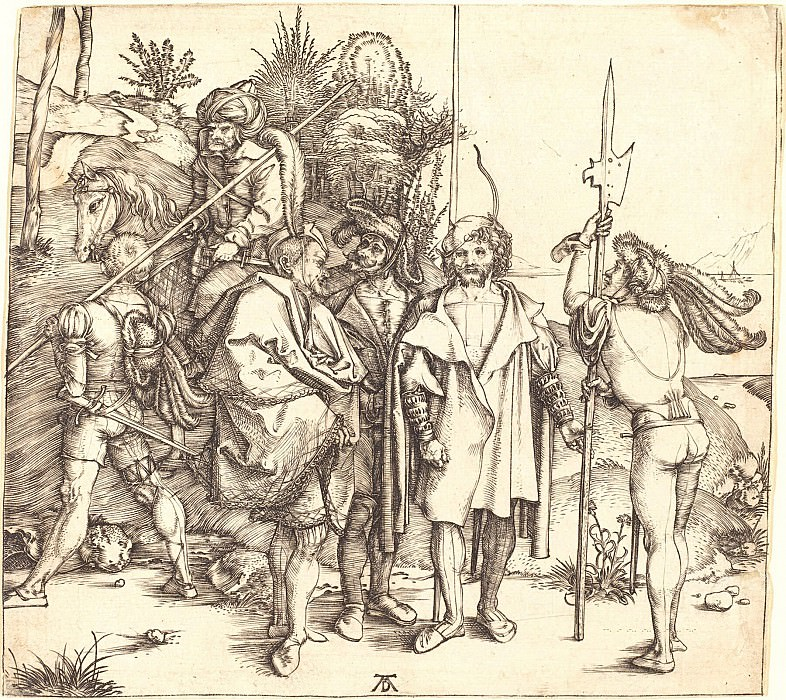 Five mercenaries and Turks on horseback. Durer Engravings