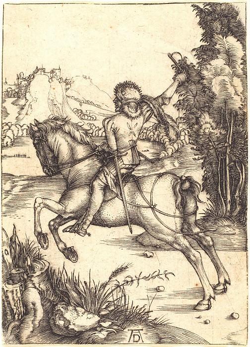The Messenger (Small messenger). Durer Engravings