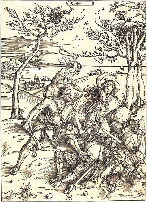 Геркулес, побеждающий Какуса (Ercules). Гравюры Дюрера