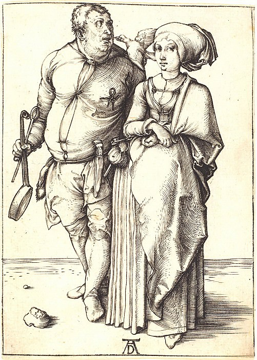 Cook and his wife. Durer Engravings