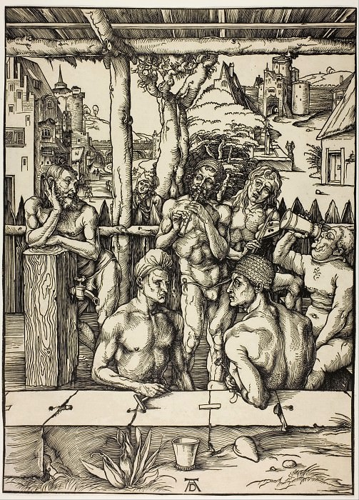 Men's Bath. Durer Engravings