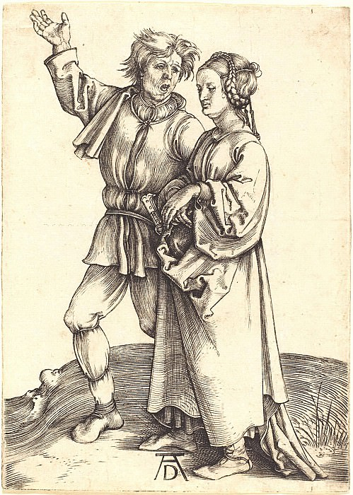 The farmer and his wife (Rural pair). Durer Engravings