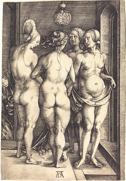 Four Witches (Four naked women). Durer Engravings