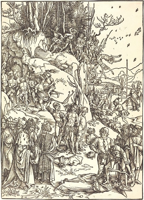 Martyrdom of ten thousand Christians. Durer Engravings