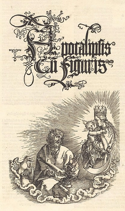 Revelation - The title page of the 2nd edition of the Latin-I. Durer Engravings