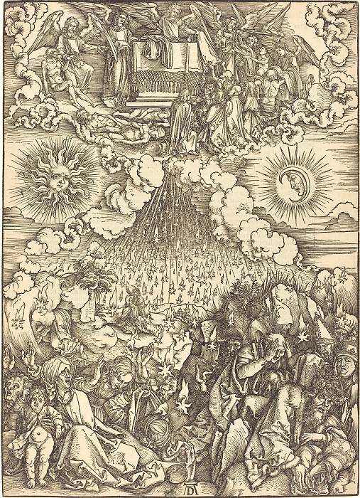 Opening of the fifth and sixth seals. Durer Engravings