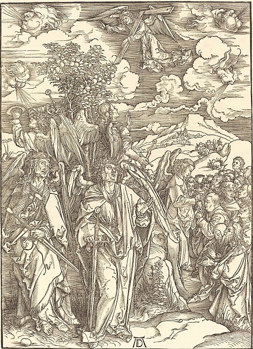 Branding righteous (four angels holding the winds). Durer Engravings