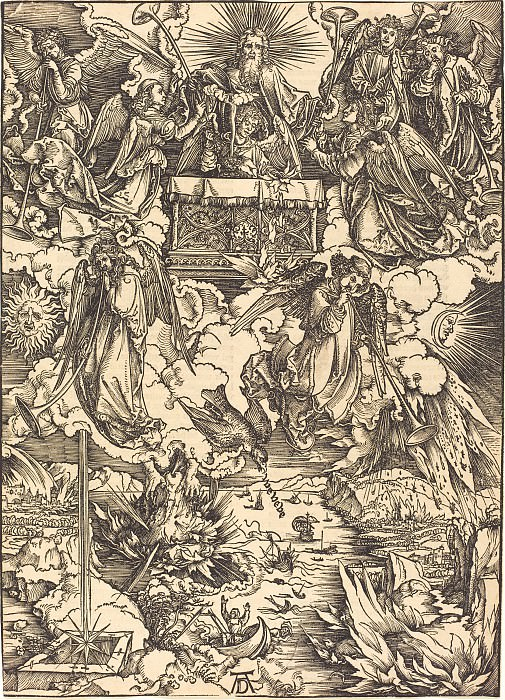 Crack of doom. Durer Engravings