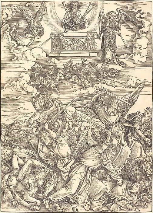 Battle of Angels (The Four Avenging Angels). Durer Engravings