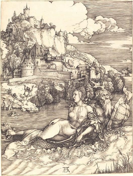 Sea monster (Das Meerwunder). Durer Engravings