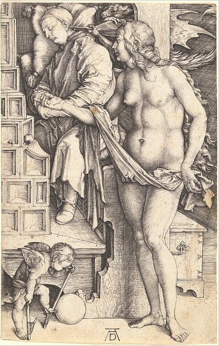 Temptation slacker (Sleep Doctor). Durer Engravings