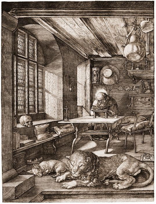 Saint Jerome in His Study. Durer Engravings