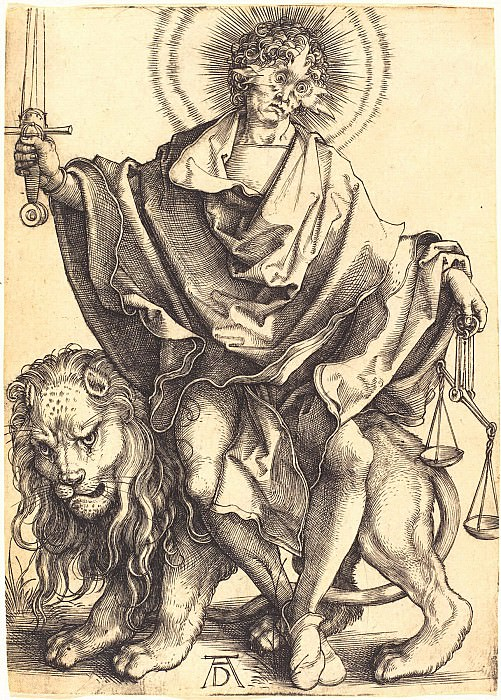 Sol Iustitiae (Sun of Righteousness). Durer Engravings