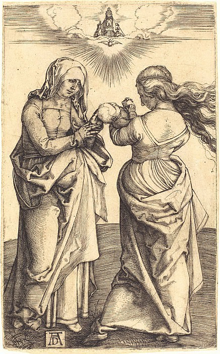 Madonna with the Christ Child and St. Anne. Durer Engravings