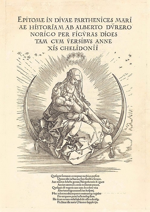 Life of the Virgin Mary - the title page. Durer Engravings
