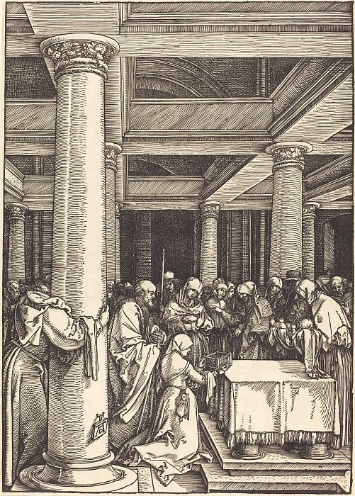 Bringing the Christ Child in the Temple. Durer Engravings