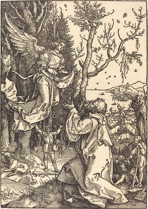 Joachim and the Angel. Durer Engravings