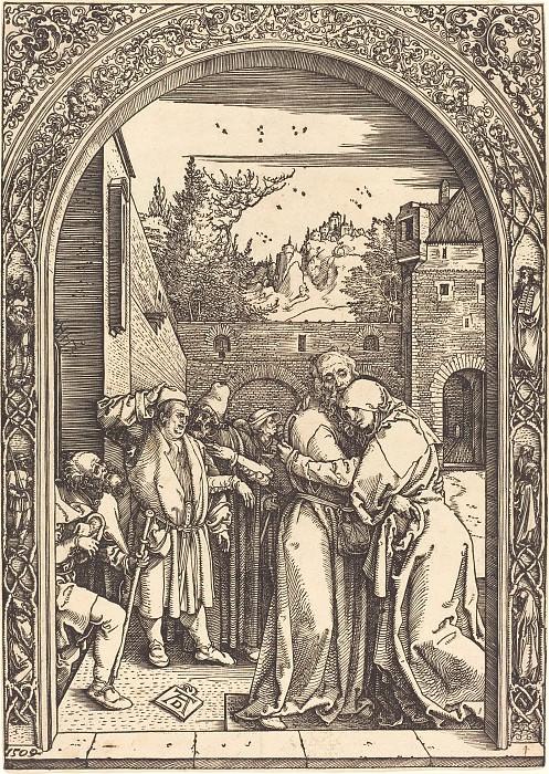 Встреча Иоакима и Анны у Золотых ворот. Гравюры Дюрера