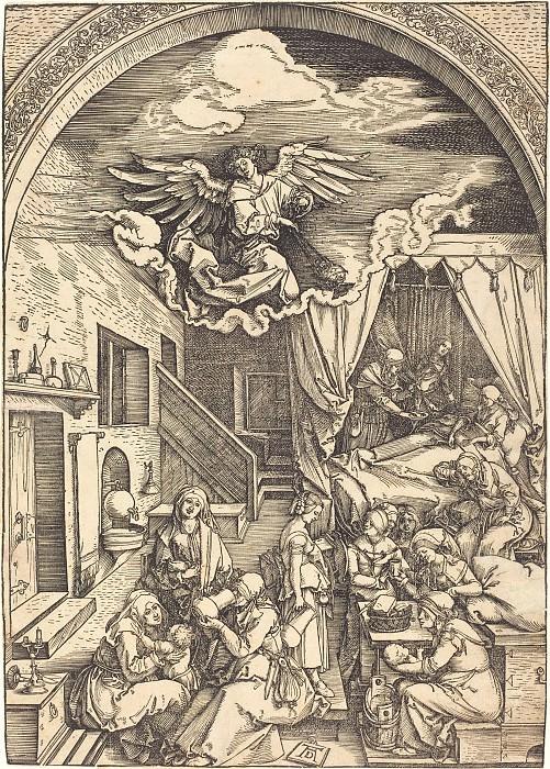 The Birth of the Virgin. Durer Engravings