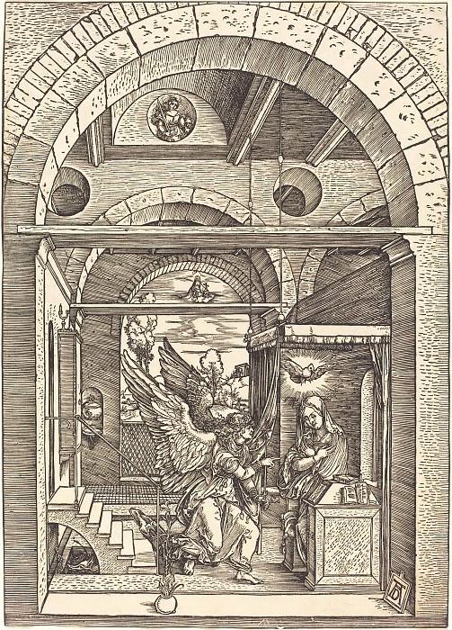 Annunciation. Durer Engravings