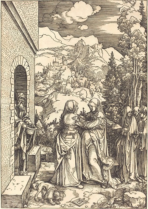 The Visitation. Durer Engravings