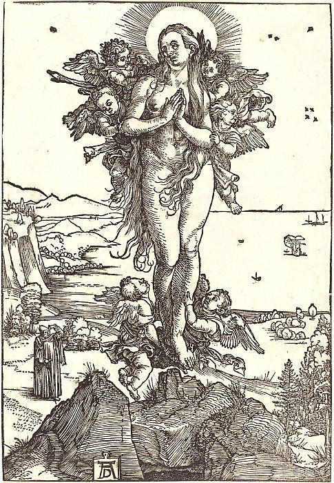 Ascension of St. Mary Magdalene. Durer Engravings