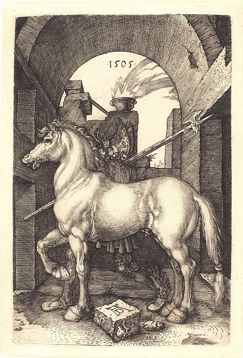 Small horse. Durer Engravings