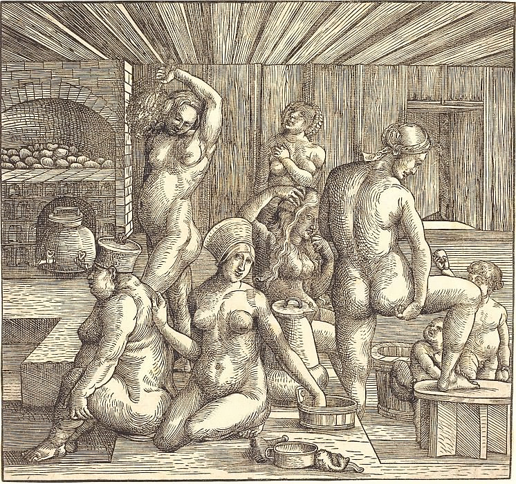 Women's Bath. Durer Engravings
