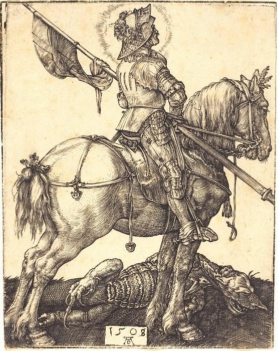 St. George on horseback. Durer Engravings