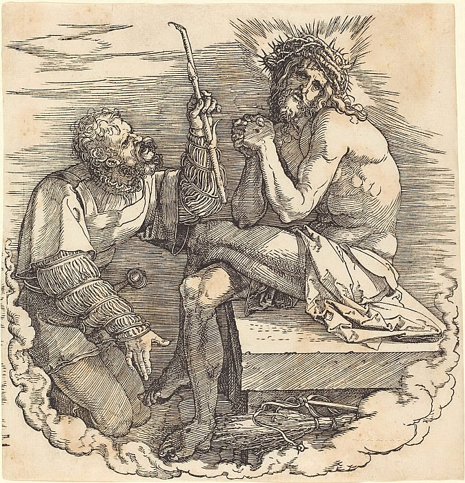 Christ the martyr, ridiculed soldier. Durer Engravings