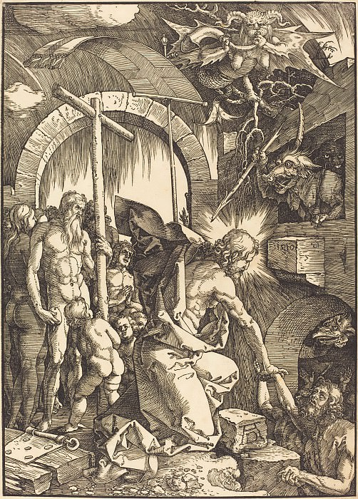 Christ's descent into hell. Durer Engravings