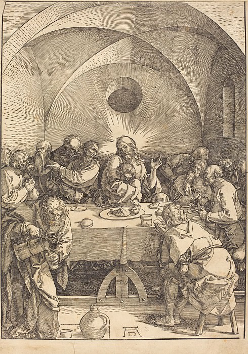Lord's Supper. Durer Engravings
